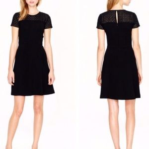 J.Crew Black Stretch Eyelet Dress